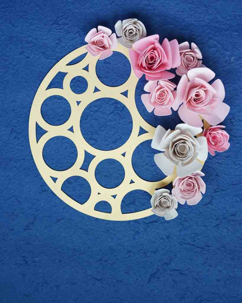Geometric Floral Wall Art Svg Set Paper Flowers Rolled Paper