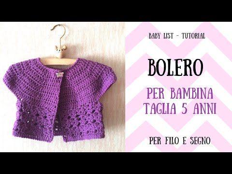 Tutorial Cardigan Baby 3 6 Mesi Youtube Boleros Crochet