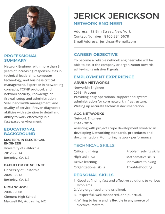 Chronological Resume Templates Word Free Download