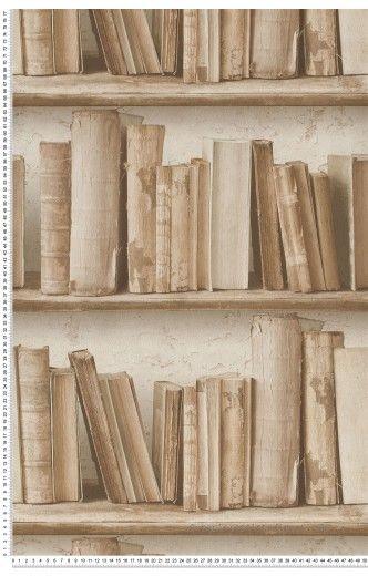 vieux livres beiges papier peint authentic de montecolino papier peint pinterest papier. Black Bedroom Furniture Sets. Home Design Ideas