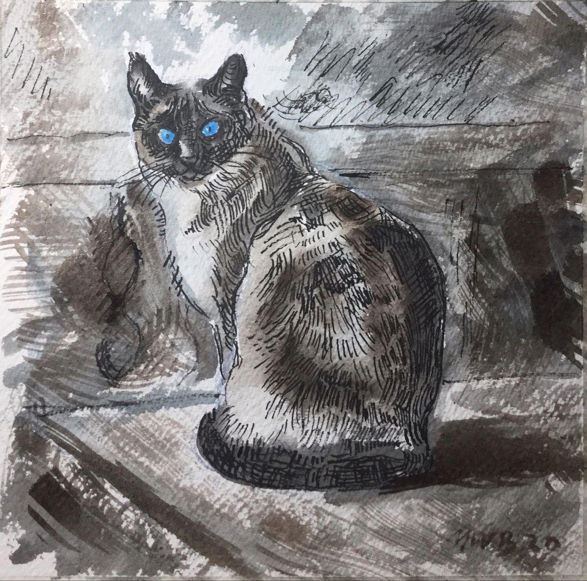 Decided to do an inktober of cats. Day 3 #inktobercats #inktobercat #inktober2020 #inktober #inkdrawing #inkdrawings #inkonpaper #catsofinstagram #catdrawing #inktobercatho2019 #mycreativity #myartwork🎨 #🎨 #🎨🎨🎨 #artlovers #instadrawing #instaink #ink_art_gallery #artistsoninsta #artistsofinstagra