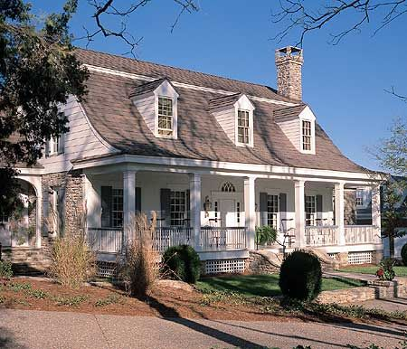 Plan 32477wp Southern Beauty In Two Sizes Dutch Colonial Homes Colonial House Plans Colonial House
