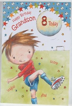 Grandson Age 8 Birthday Card