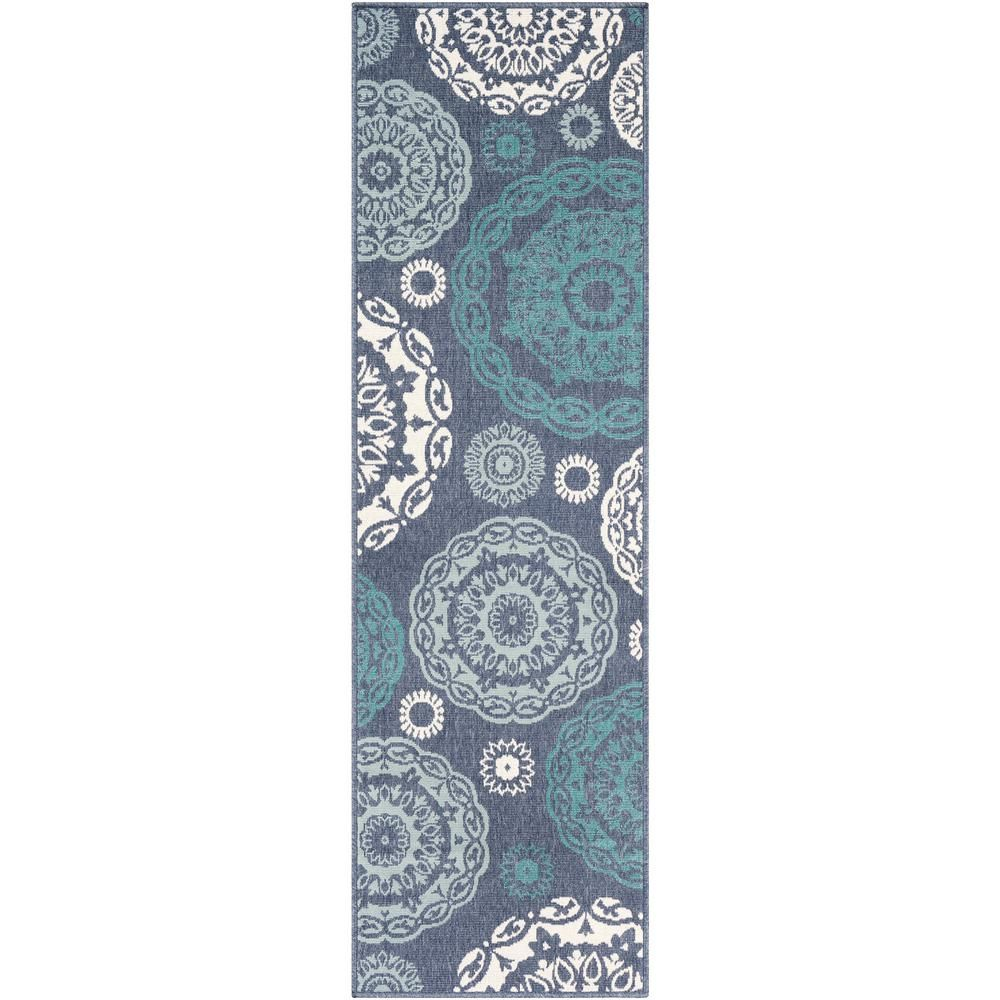 Artistic Weavers Felix Aqua 2 Ft 3 In X 11 Ft 9 In Oriental