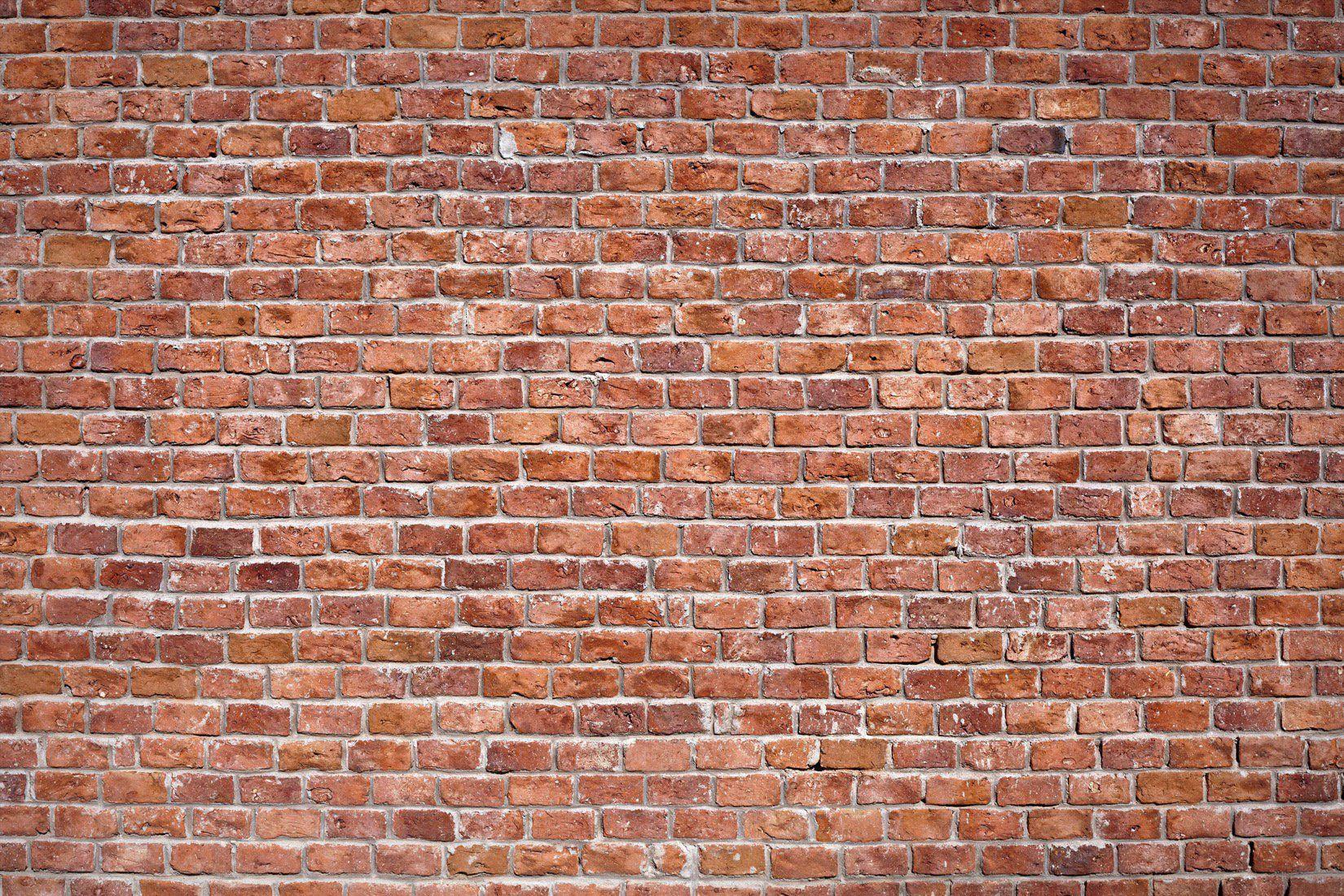 Rundown Red Brick Wall Wallpaper Mural in 2020 Brick