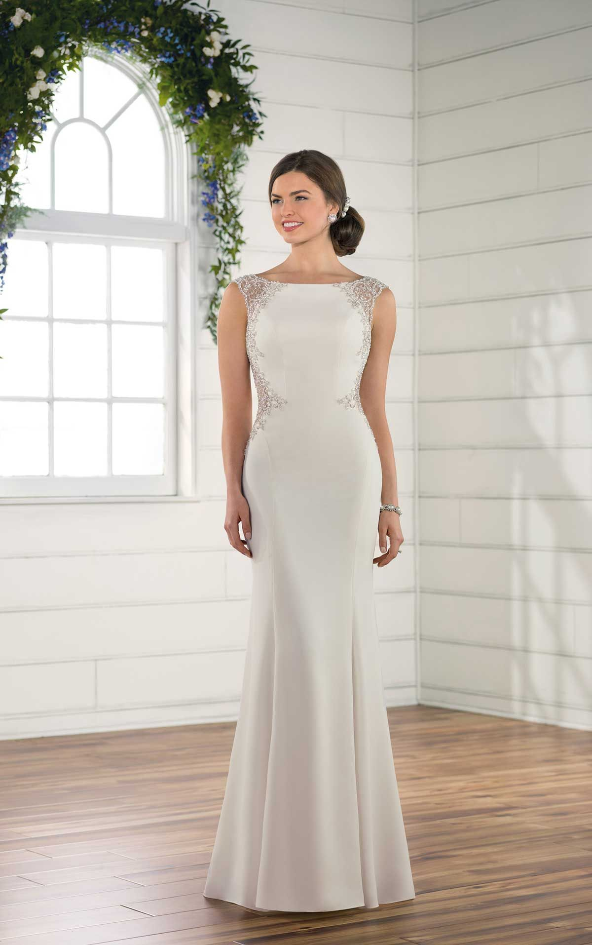 Vintage Glamour Done Right This Sheath Gown Brings Glam To Any Wedding A High Neckline Creates An Elegant Style And Is Accented By Beaded Straps: Vintage Glam Wedding Dresses At Reisefeber.org