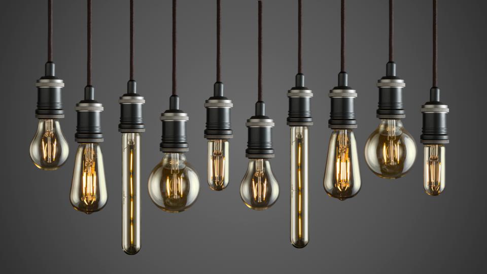 vintage led filament light bulbs by