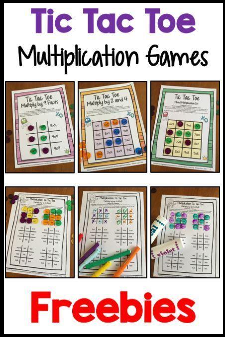 FREE Printable Tic Tac Toe Multiplication Games