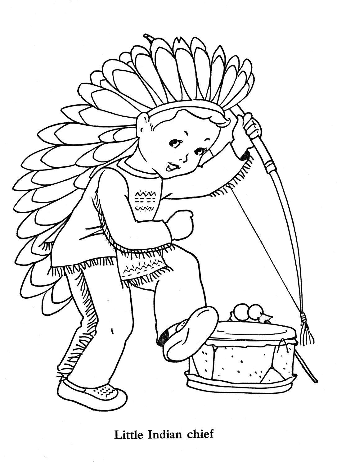 littleindianchiefjpg 10861488 pixels  Thanksgiving coloring
