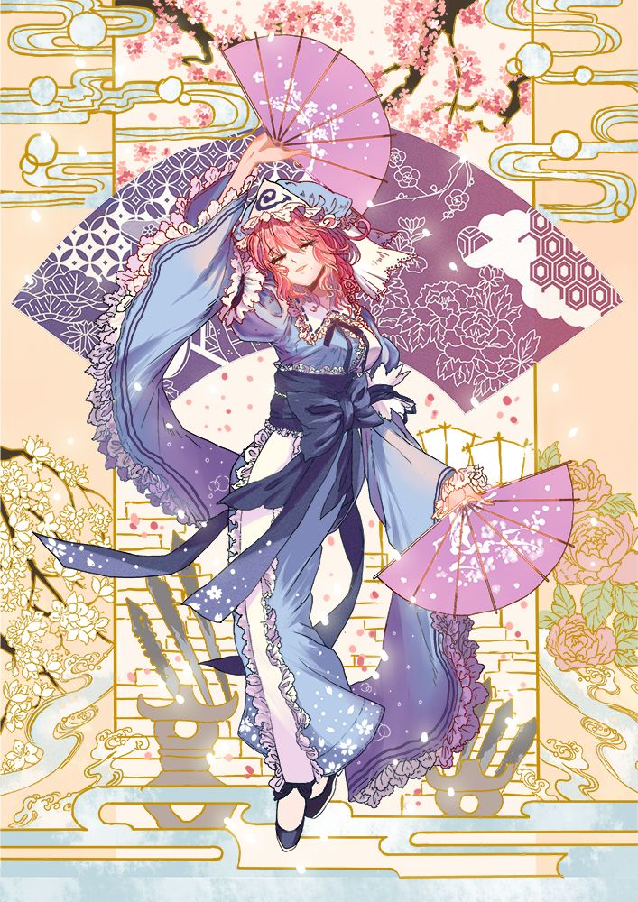 Touhou ain't officially anime folks but I guess Yuyuko did