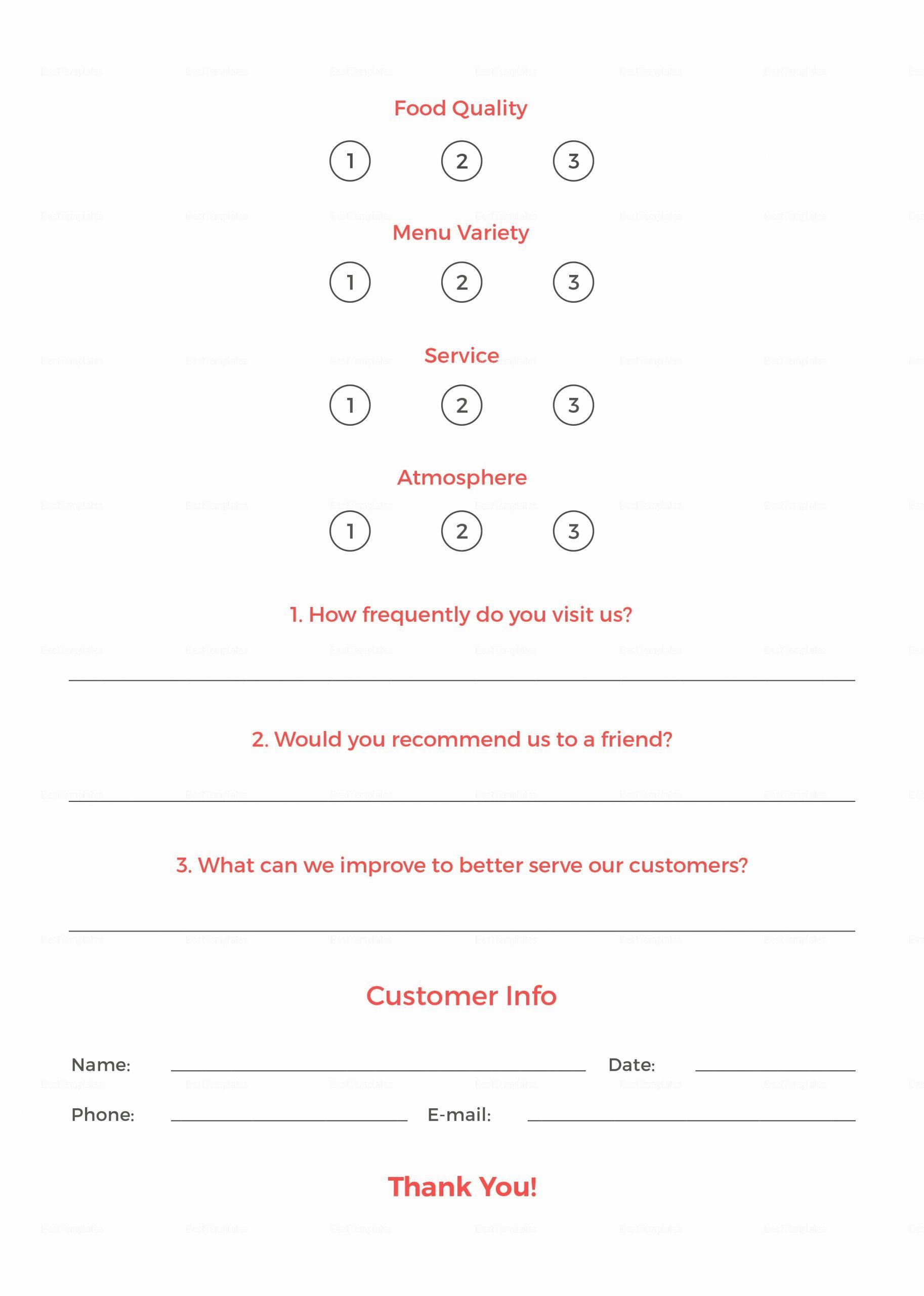 Restaurant Comment Card Template Awesome Restaurant Customer Ment Card Template In Psd Word In 2020 Card Template Free Business Card Templates Business Template