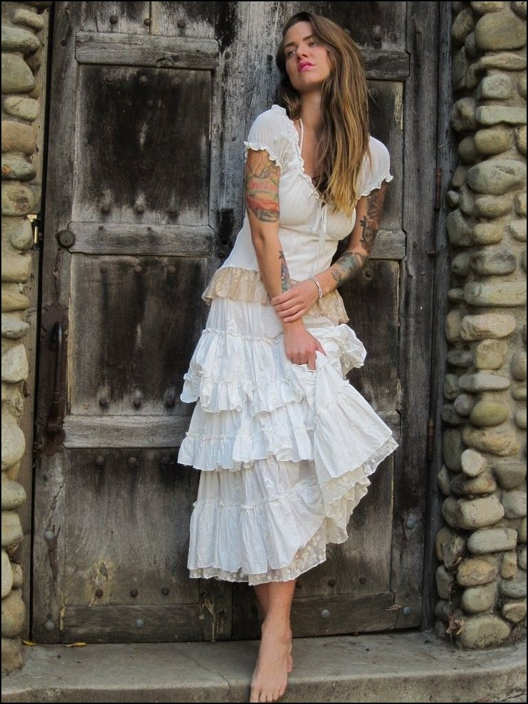 Saloon style wedding dresses