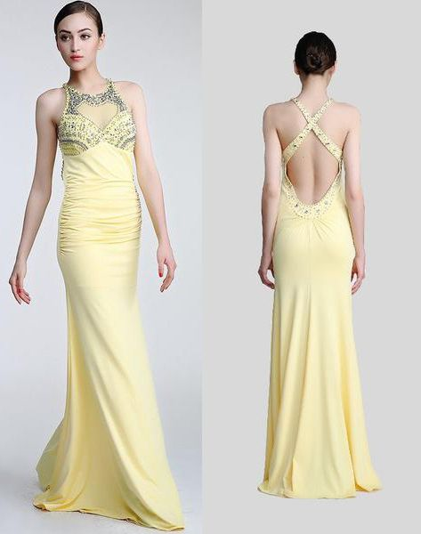 Daffodil Long Beaded Open Back Prom Evening Dresses ED0837 | Prom ...
