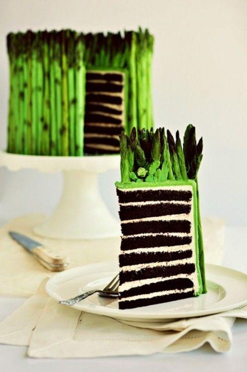 How to Make a Fondant Asparagus Cake