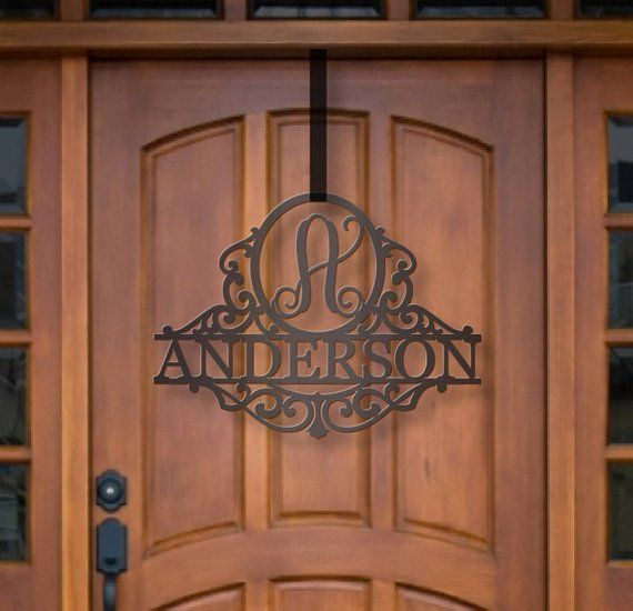 Classy Metal Name | Family Gift | Door Initial | Personalize…
