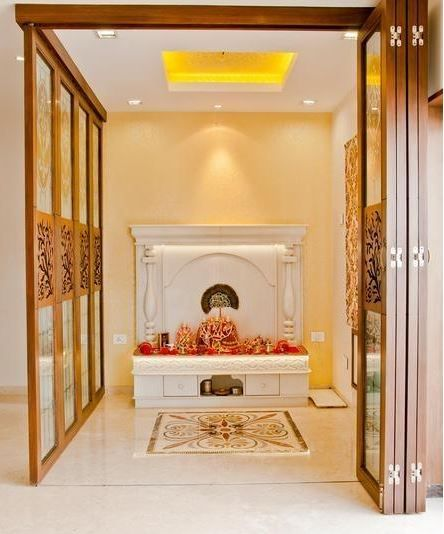 14 inspirational pooja room ideas for your home room for Pooja room interior designs