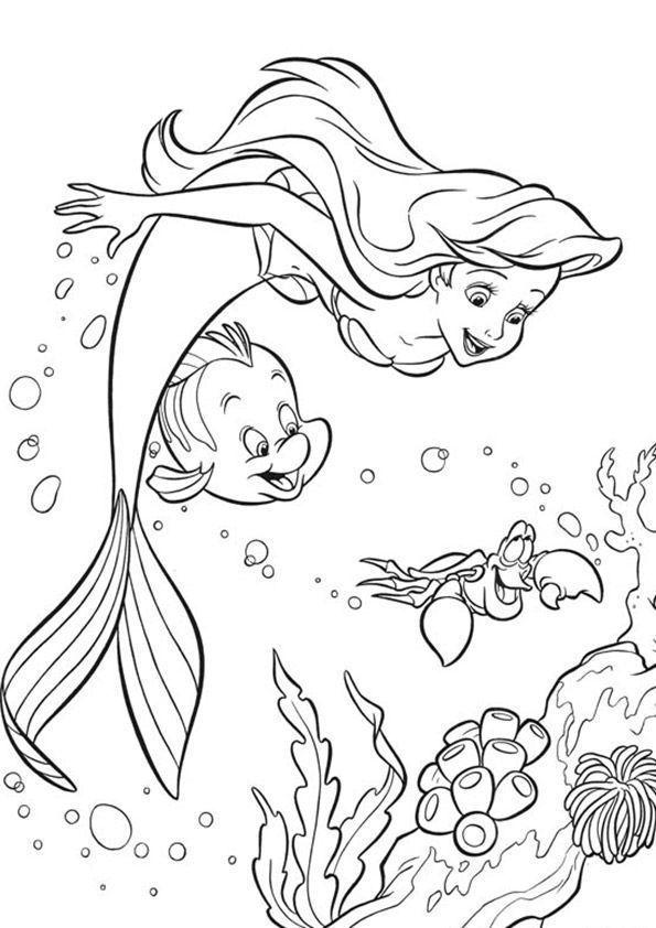 Arielle Zum Ausmalen 03 Disney Prinzessin Malvorlagen Malvorlagen Tiere Ausmalbilder Arielle