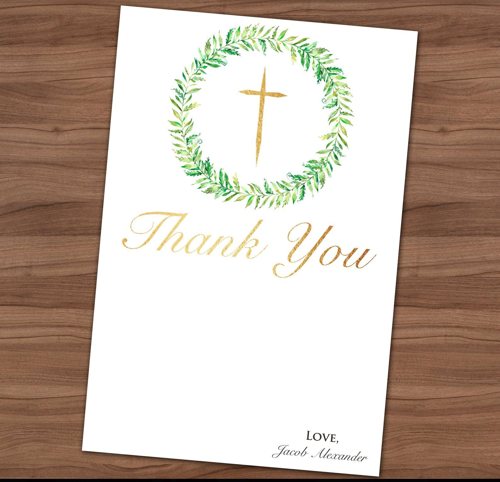 First communion thank you card 1st holy communion thank