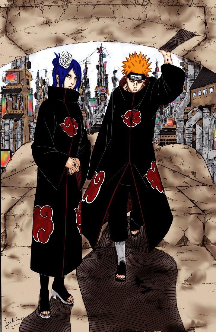 Akatsuki Teams Nagato Konan Yahiko Pein On Pinterest Naruto Naruto Manga Anime Naruto