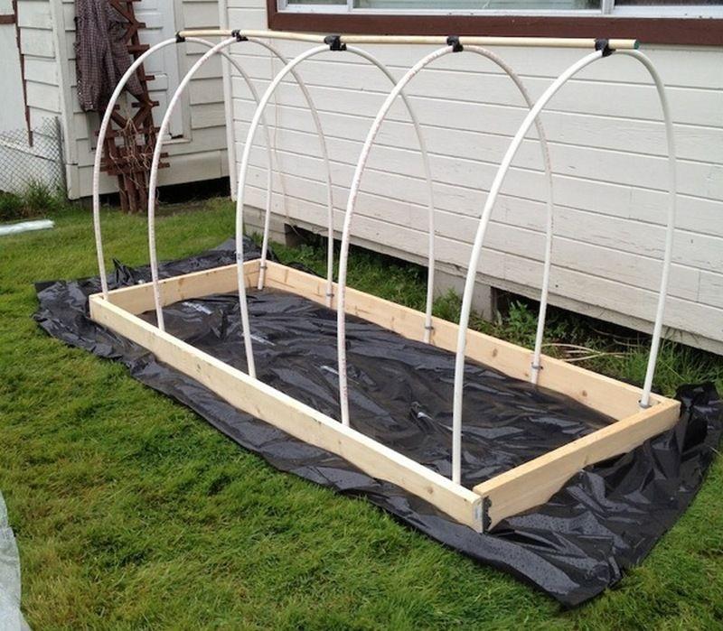 DIY Raised Garden Bed With Cover Garden beds, Diy