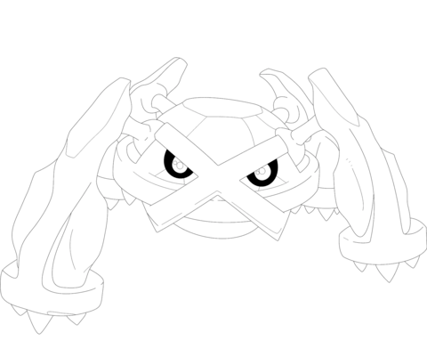 Metagross Coloring Page Pokemon Coloring Pages Coloring Pages Cartoon Coloring Pages