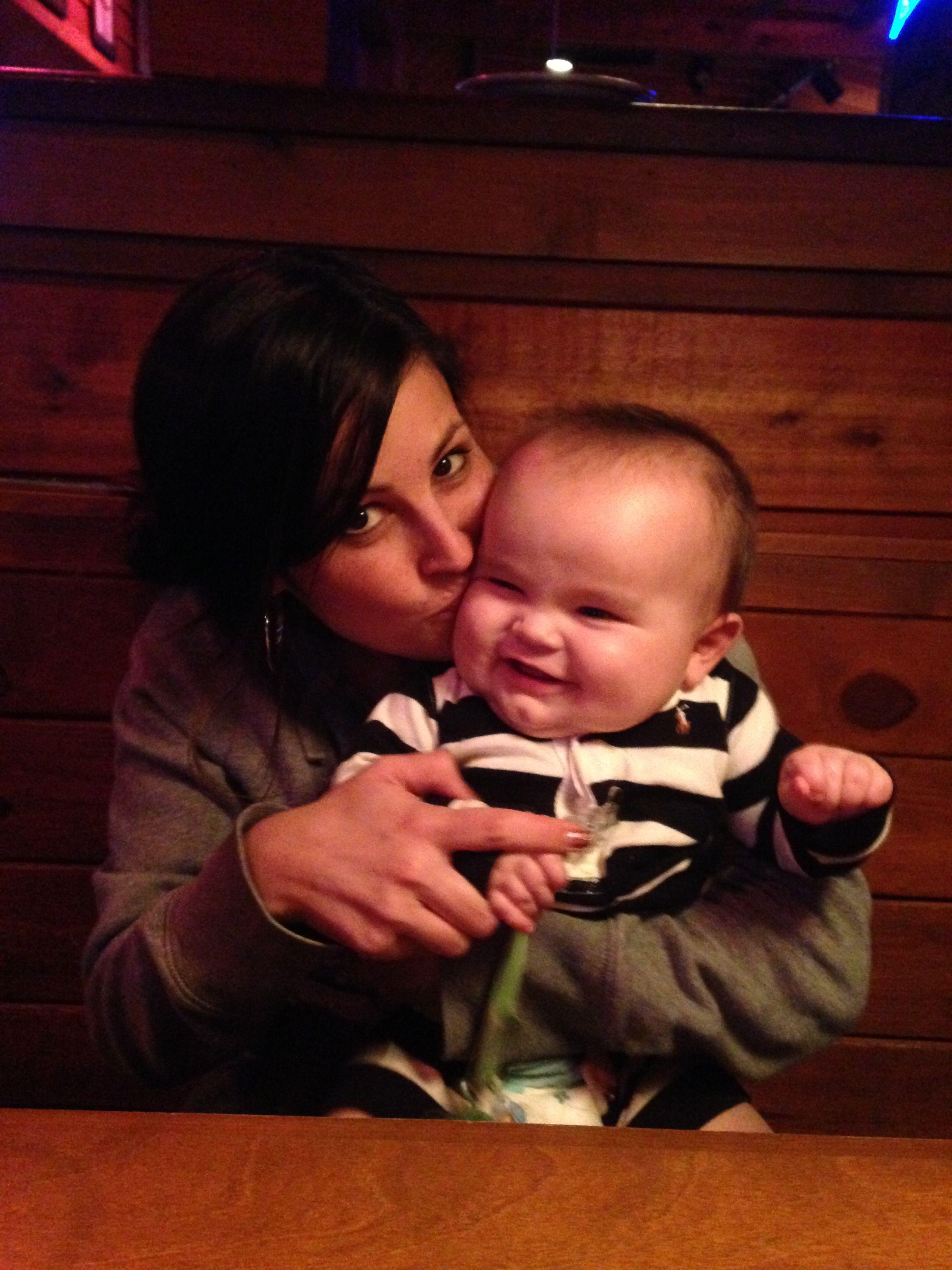 He loves kisses from mommy