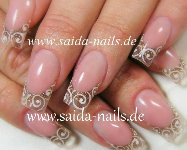 Gold gradients by Saida #elegant #bridal #nail design | nails ...