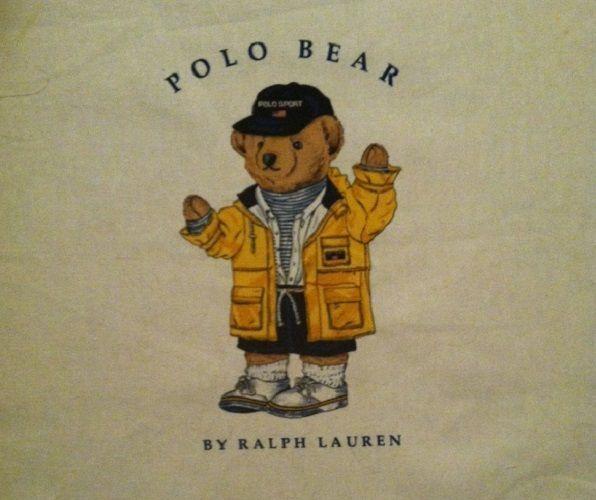 12dba82c Vintage Ralph Lauren Polo Teddy Bear in Yellow Jacket Pillow Topper Fabric # RalphLauren