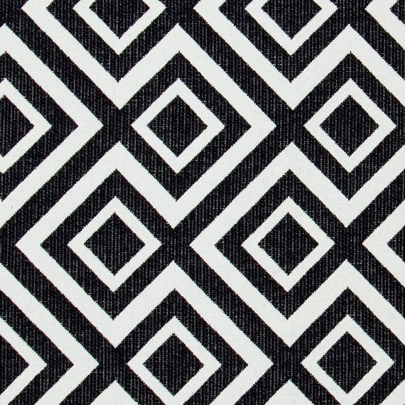 Black White Geometric Upholstery Fabric   Heavyweight Woven Textiles For  Furniture   Geometric Home Decor   Custom Black White Pillow Cover
