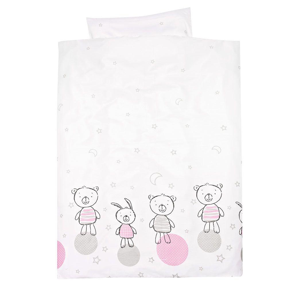 Kopfkissen- und Deckenbezug aus reiner Baumwolle mit niedlichem Print.