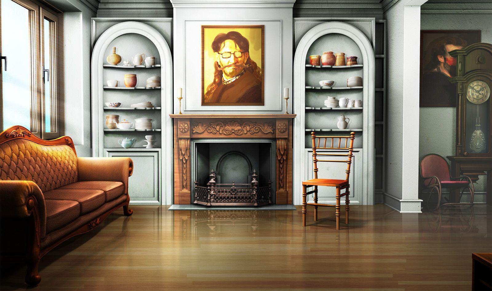 Modest Sitting Room Vinoth Sivaraja On Artstation At Https Www Artstation Com Episode Interactive Backgrounds Living Room Style Anime Backgrounds Wallpapers Background images living room