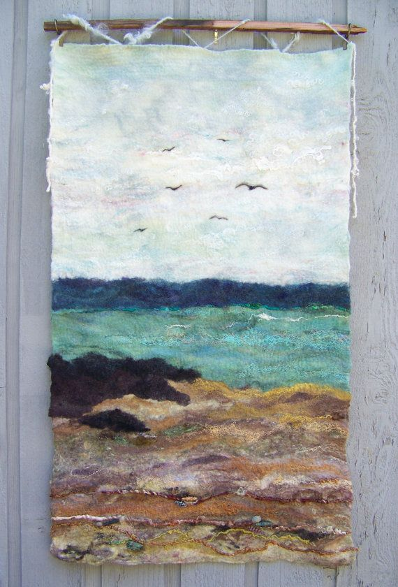 No 4 Shore One Wet Felted Wall Hanging
