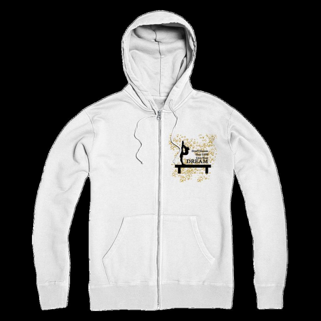 Unisex Hooded Sweatshirt Zipper Jacket S-XL Mens Contrast Varsity Retro Zip up Hoodie