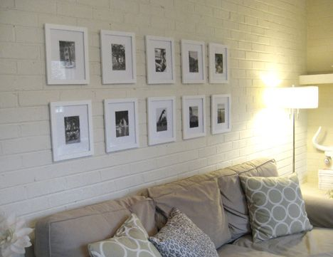 White Wall Frames create a black and white art wallhanging photographs in a
