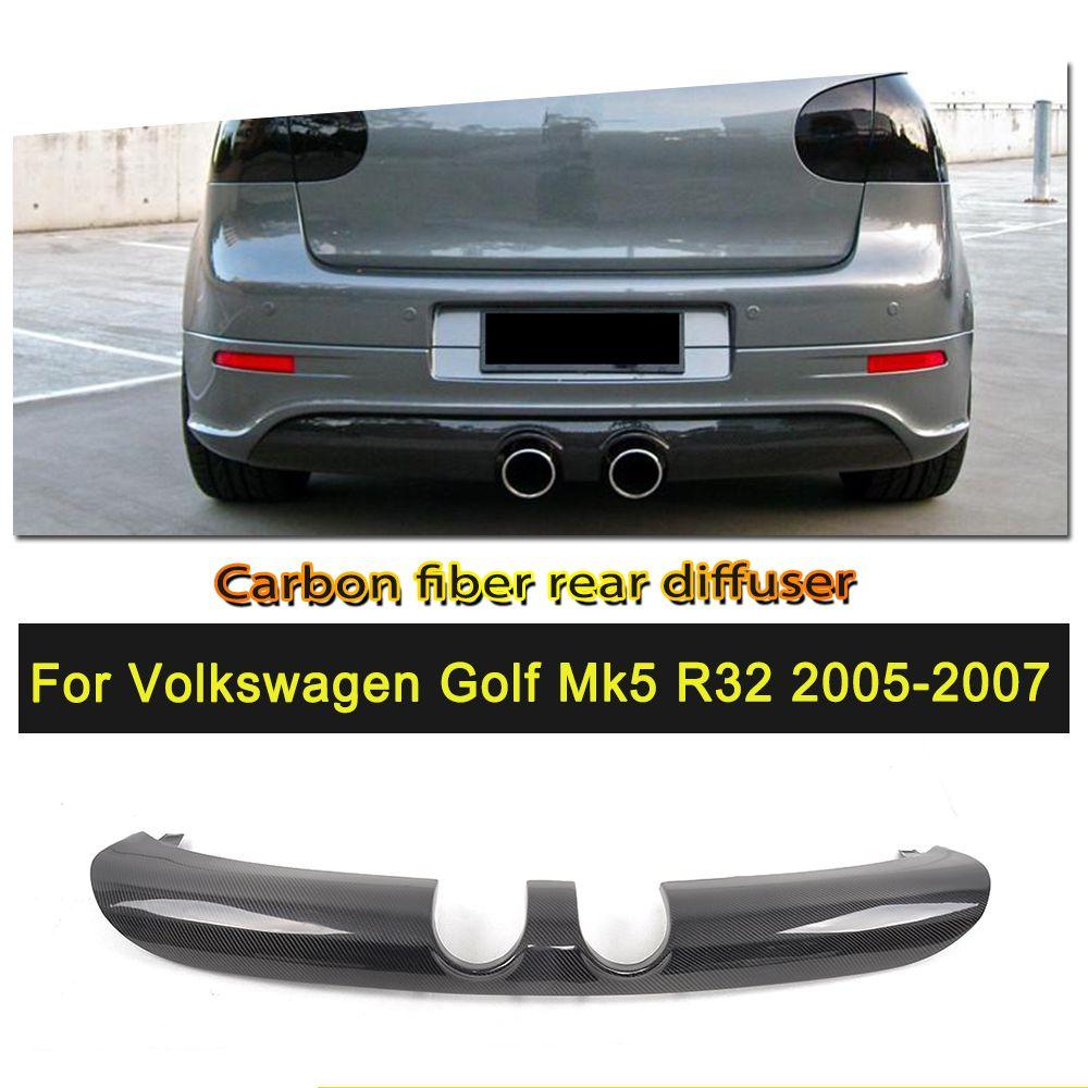 Golf 5 R32 Carbon Fiber Rear Bumper Diffuser Lip For Volkswagen Vw