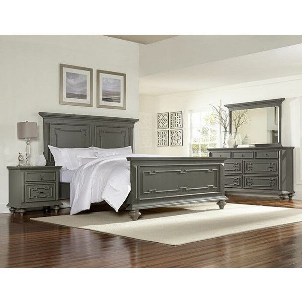 Grey Wood Bedroom Furniture Interesting 5 Pc Marceline Collection Striking Grey Finish Wood With Subtle Design Ideas