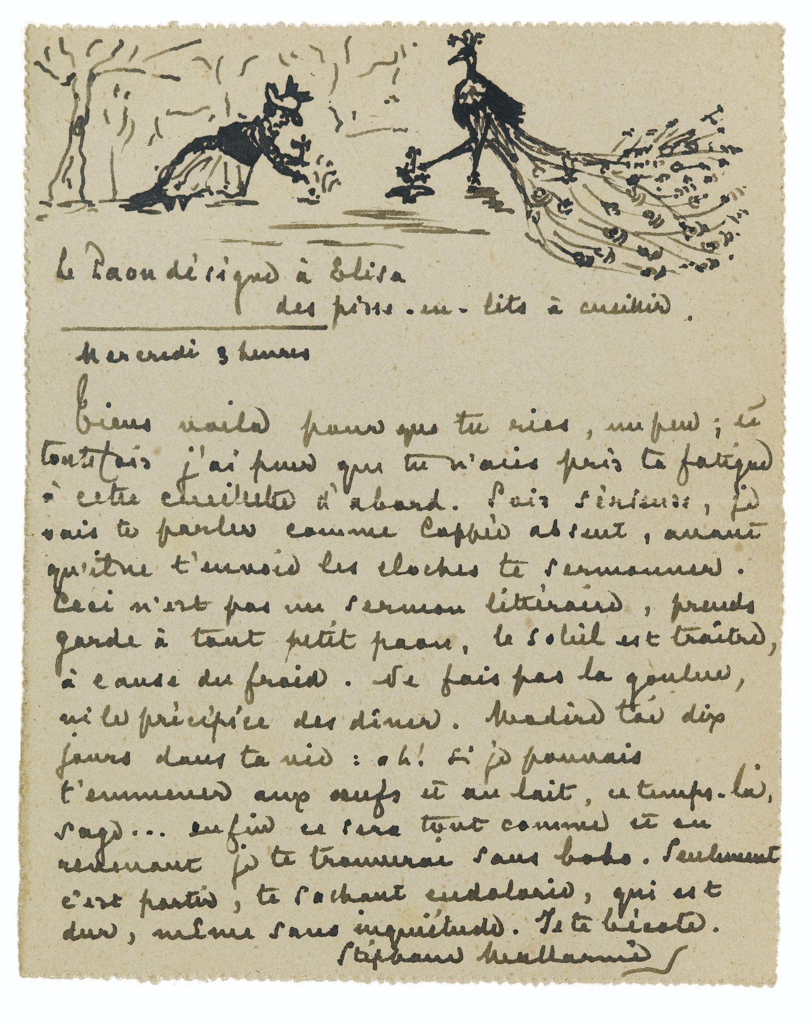 manuscrit ⋒ Stéphane Mallarmé | consolations (parchemin) | Pinterest