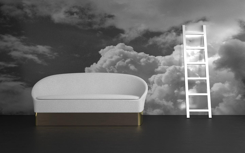 Drop Sofa and La Escalera Floor Lamp by Lorena Gaxiola