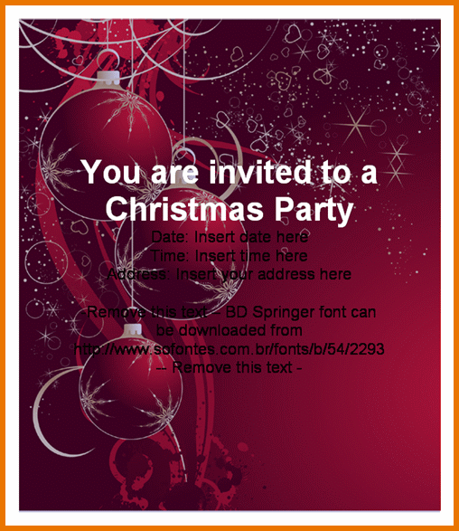 Free Powerpoint Christmas Party Invitations Templates