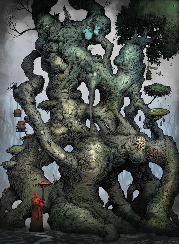 SEANandrewMURRAY'S sketchblog: Illiandar The Mage Tree