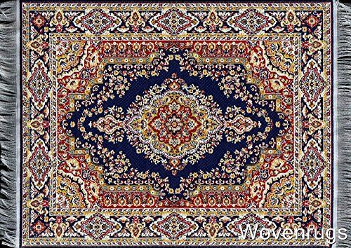 Blue Oriental Woven Rug Mouse Pad Rugs On Carpet Style Carpet Rugs
