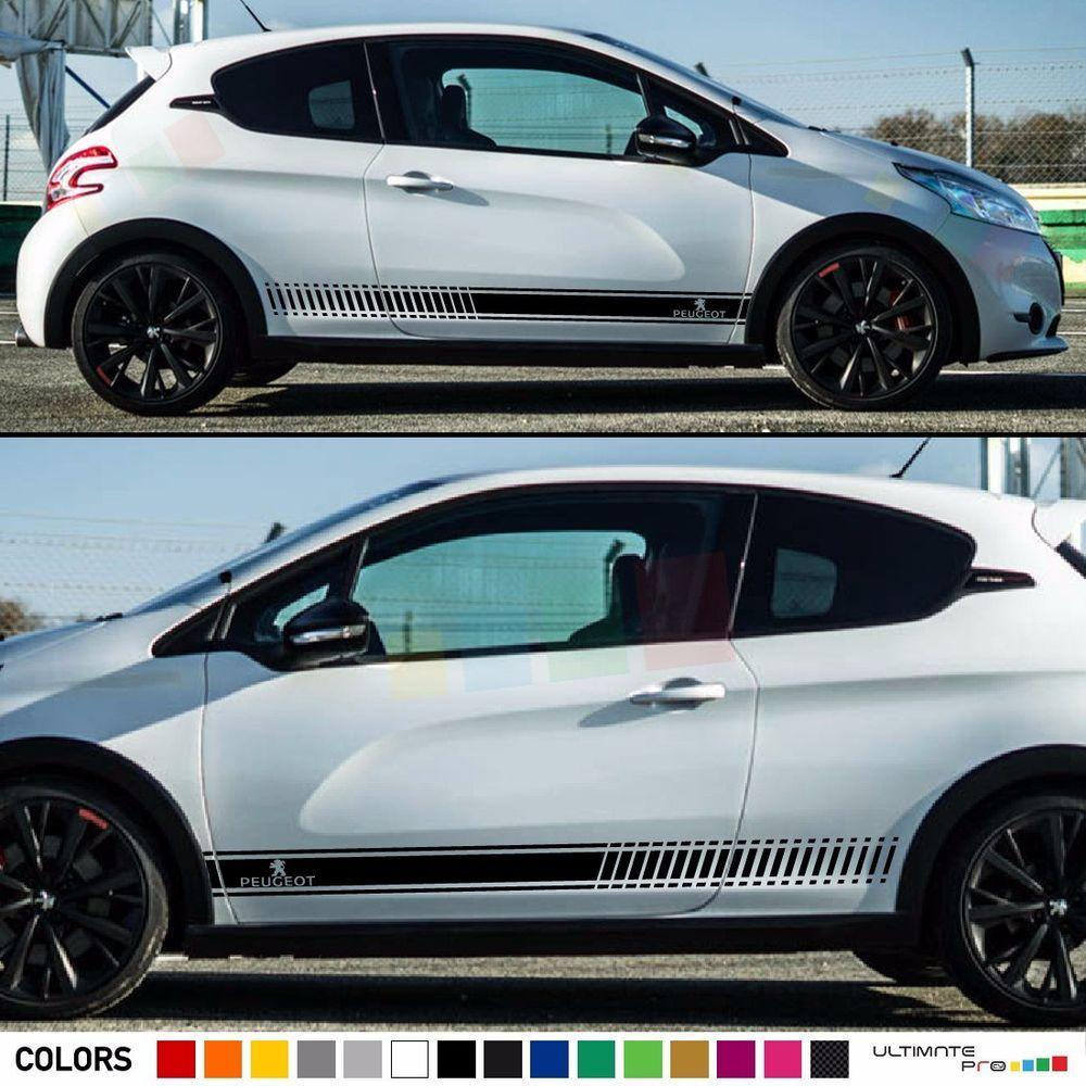 decal sticker racing stripe kit for peugeot 208 rc mirror bumper spoiler light racing stripes. Black Bedroom Furniture Sets. Home Design Ideas