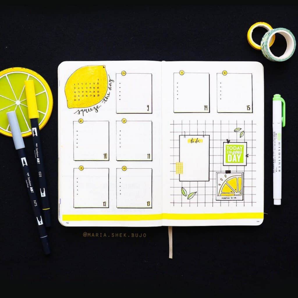 40 juicy Citrus Bullet Journal Theme Ideas | My Inner Creative