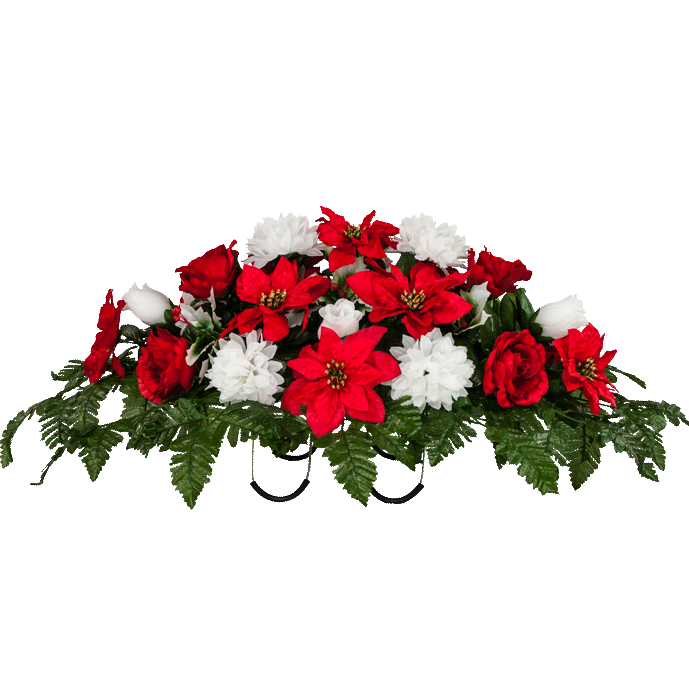 Red Roses And White Carnations Christmas Ideas