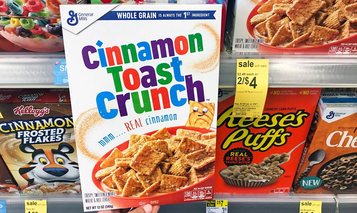 General mills cereal as low as 070 at walgreens