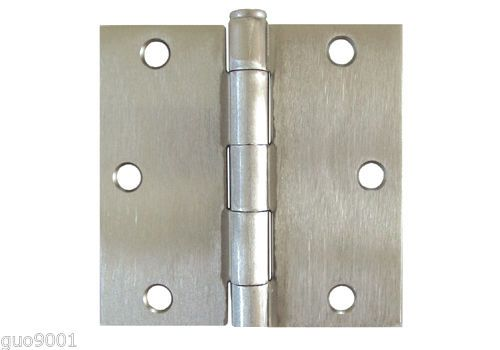 Satin Nickel 3 5 X 3 5 Inch Straight Square Corner Interior Door Hinge Brushed Interior Door Hinges Doors Interior Door Hinges