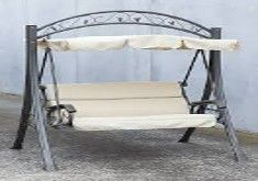 Hanging Chair Outdoor Australia Wedding Covers And Bows Swing Bed Canopy Garden Bench Seat Steel Frame Cushion