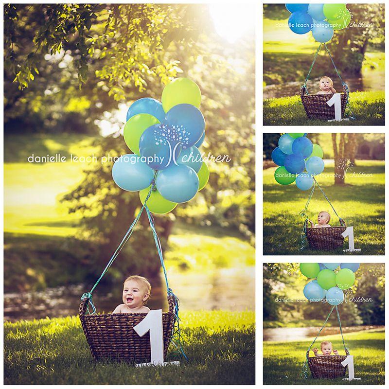 Hot Air Balloon Theme Portrait At Cramton Park In Lapeer