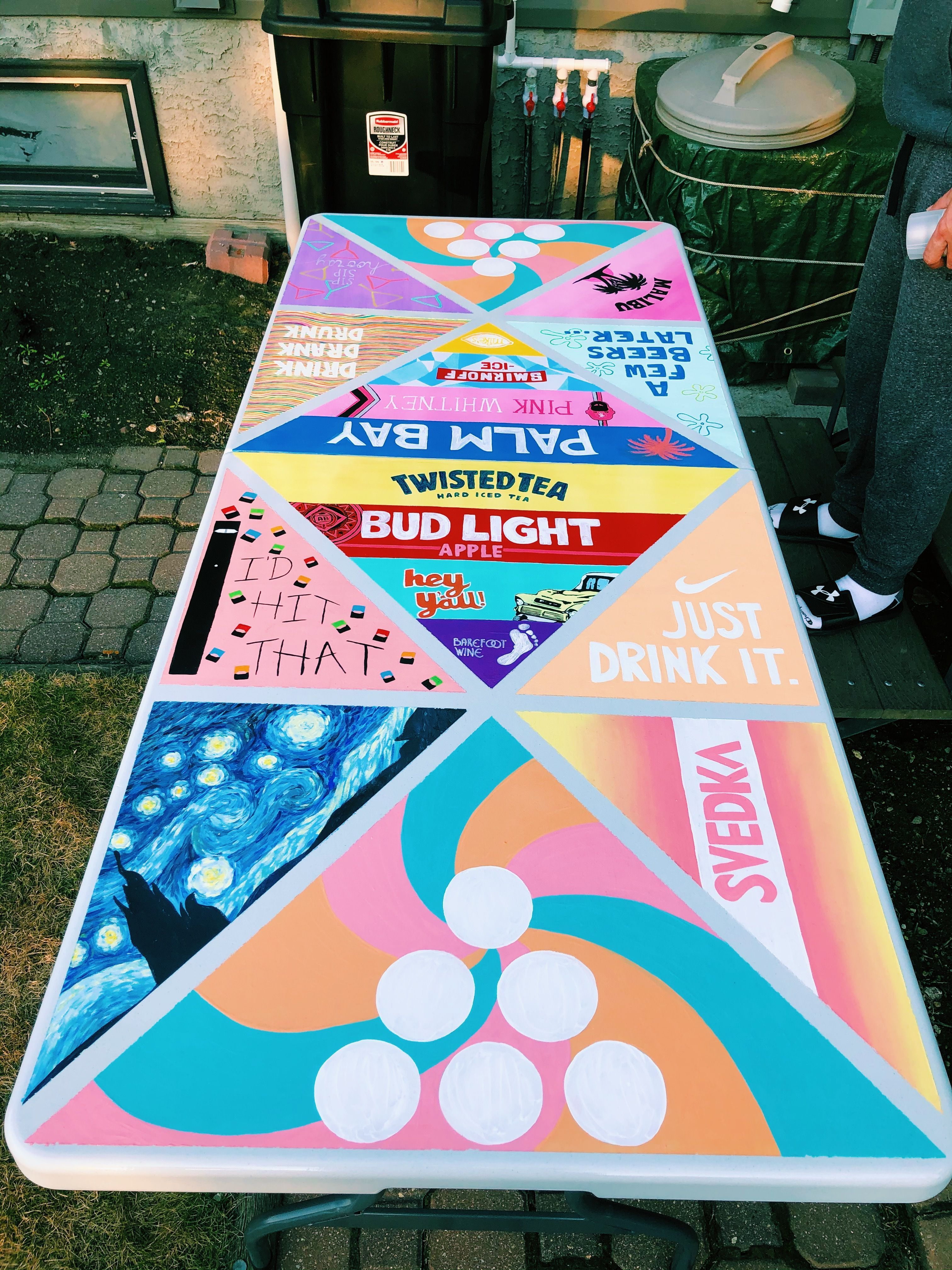 Welcome To Blog Diy Beer Pong Table Beer Pong Table Painted Beer Pong Table Diy