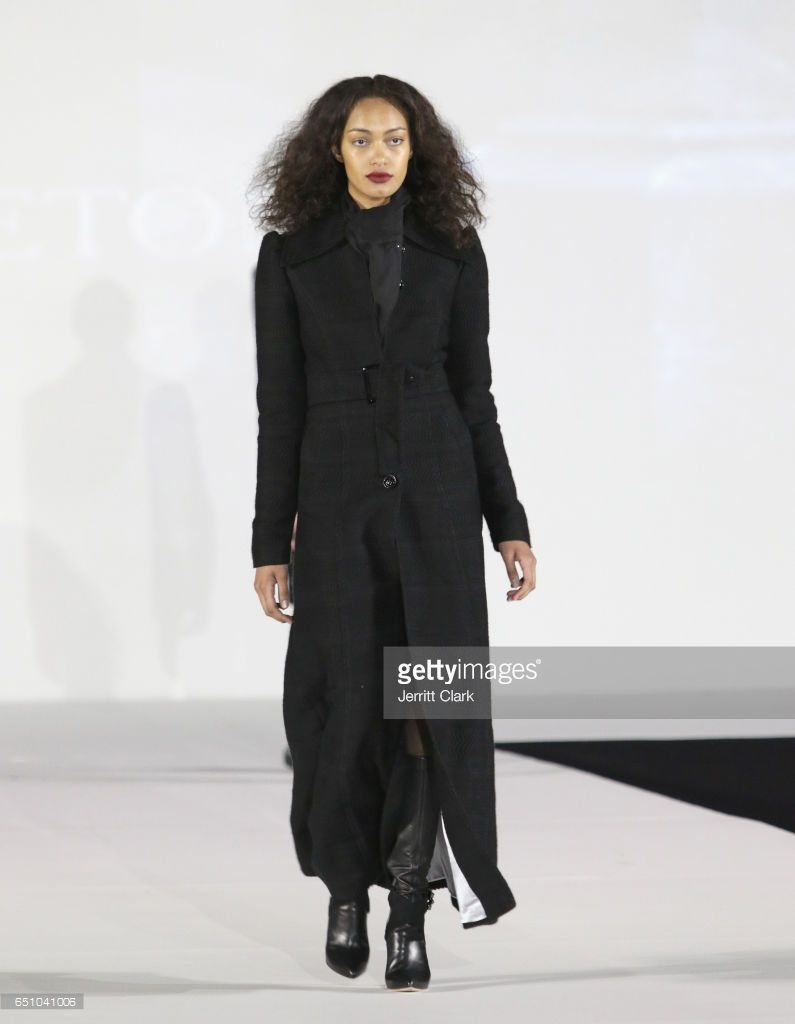 A model walks in Malan Breton's 3D Cinematic Runway Show at Style Fashion Week Los Angeles at Pacific Design Center on March 9, 2017 in West Hollywood, California.